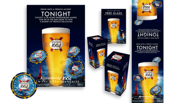 Designs for Kronenbourg Beer promotions