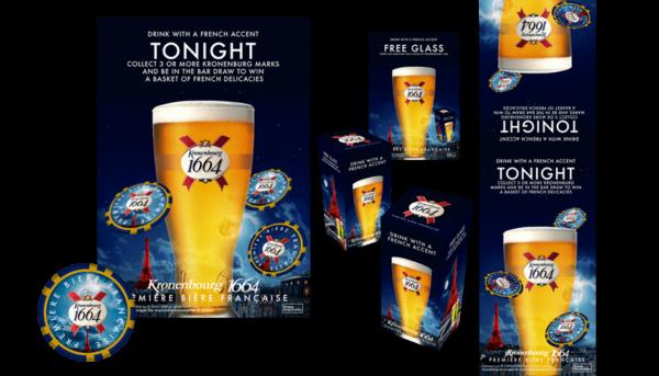 Designs for Kronenbourg Beer promotions